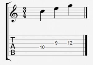 Die Töne eines C-Dur-Dreiklangs