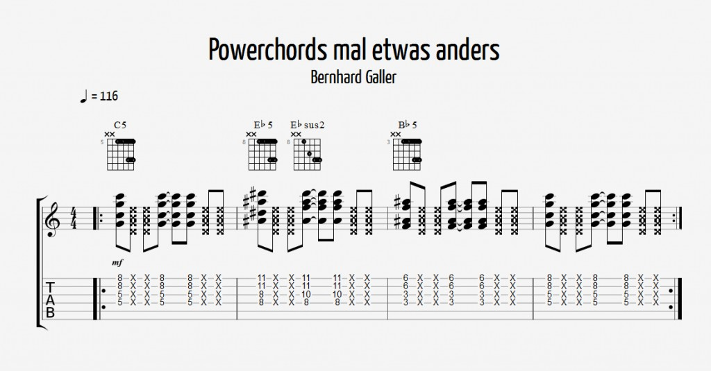 chord of the week 16 beispiel